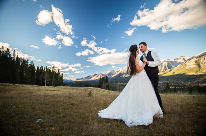 The Wedding Dress - Amanda and Brian's Wedding in Canmore, AB, Canada