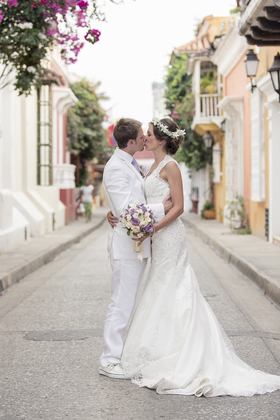 The Newlyweds - Susana and Chris's Wedding in Cartagena, Bolivar, Colombia