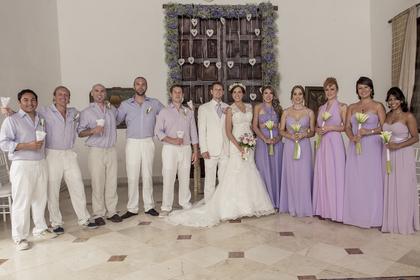 Wedding Party Attire - Susana and Chris's Wedding in Cartagena, Bolivar, Colombia