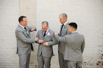 The Groomsmen Wedding Party Attire - Audrey and Philip's Wedding in Urbana, OH, USA