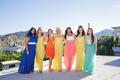 The bridesmaid dresses were ordered form e-bay Wedding Party Attire - Zaros Wedding In July in San Francisco, CA, USA