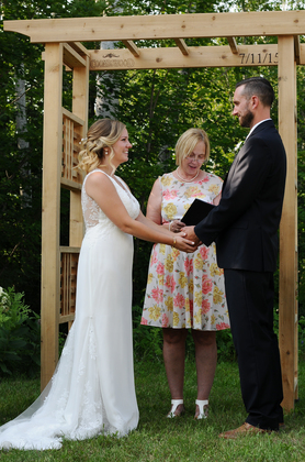 The Ceremony - Barry's Bay Wedding In July in Barrys Bay, ON, Canada