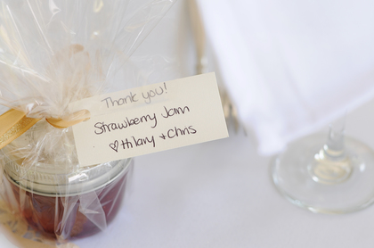 Home made strawberry jam by the bridge, and mothers of the bride and groom. The Favors - Barry's Bay Wedding In July in Barrys Bay, ON, Canada