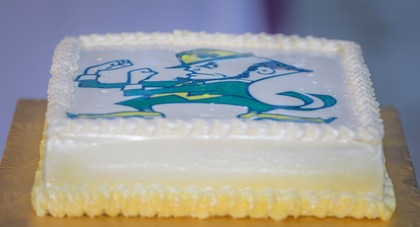 Groom's cake - Notre Dame...Favorite football team! Cakes and Desserts - Eleanor and Trey's Wedding in Key Largo, FL, USA