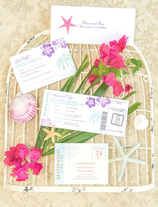 The Invitations - Eleanor and Trey's Wedding in Key Largo, FL, USA