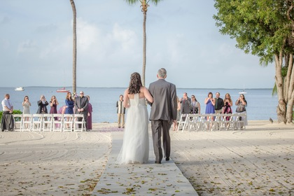 The Ceremony, Flowers and Decor - Eleanor and Trey's Wedding in Key Largo, FL, USA