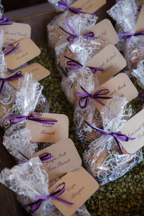 Amaretti cookie favors by La Biscotteria.
