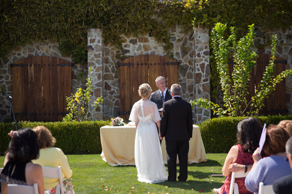 Outdoor ceremony at Jacuzzi Winery, Sonoma. The Ceremony - Marcie and Duane's Wedding in Sonoma, CA, USA