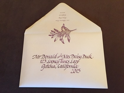 Calligraphy by Ruth Korch Art The Invitations - Marcie and Duane's Wedding in Sonoma, CA, USA