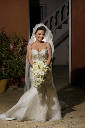 Wedding Dress from Bijou Bridal Coral Gables, FL. The Wedding Dress - Carolina and Rafael Wedding in Bolivar, Colombia