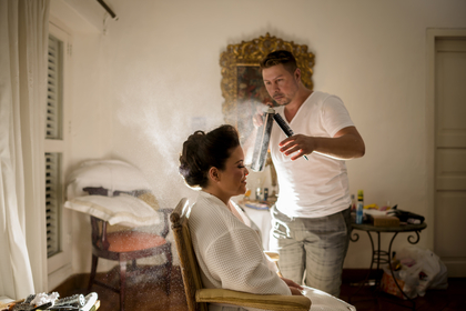 Hair and Make up.  Hairstyles - Carolina and Rafael Wedding in Bolivar, Colombia