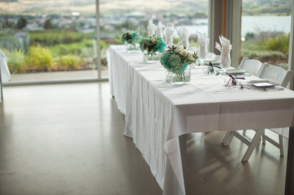 front table Flowers and Decor - Kerry and Rob's Wedding in Kelowna, BC, Canada