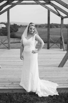 A bridal portrait. The Wedding Dress - Harrisonburg Wedding In September in Harrisonburg, VA, USA