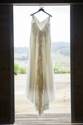 The dress in the doorway. The Wedding Dress - Harrisonburg Wedding In September in Harrisonburg, VA, USA