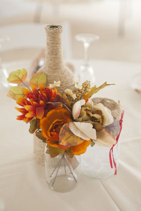 One of the centerpieces Flowers and Decor - Harrisonburg Wedding In September in Harrisonburg, VA, USA