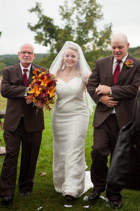 Walking in! The Ceremony - Harrisonburg Wedding In September in Harrisonburg, VA, USA