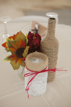 Another centerpiece. Flowers and Decor - Harrisonburg Wedding In September in Harrisonburg, VA, USA