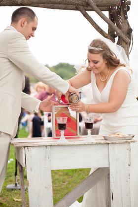 The sand ceremony The Ceremony - Harrisonburg Wedding In September in Harrisonburg, VA, USA