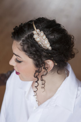 One of the Bridesmaid's hairstyles Hairstyles - Harrisonburg Wedding In September in Harrisonburg, VA, USA