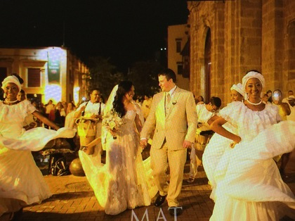 The Newlyweds, Wedding Party Attire - Derly and Brian's Wedding in Cartagena, Bolivar, Colombia