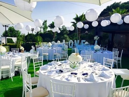 Outdoor reception The Ceremony - Gemma and Louis's Wedding in Marbella, Spain