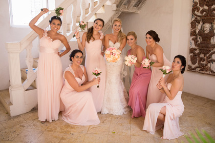 Bridesmaids Wedding Party Attire - Our Wedding in Cartagena, Bolivar, Colombia