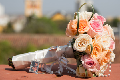 Floristeria Martha Luz for ceremony The Favors - Our Wedding in Cartagena, Bolivar, Colombia