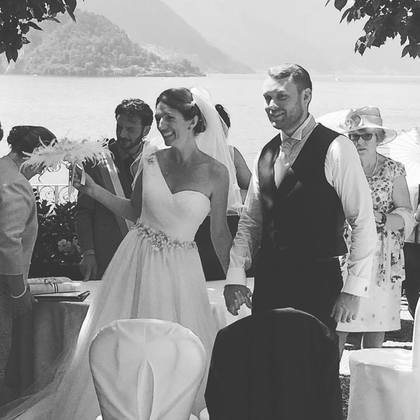 I DO The Newlyweds - Charlotte and Aaron 's Wedding in Lake Como, Italy