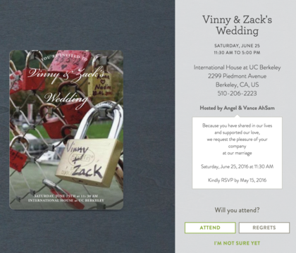 The Invitations - Zack and Vincent's Wedding in Oakland, CA, USA