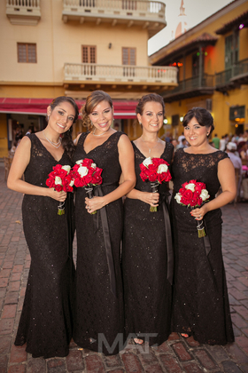 Wedding Party Attire - Cartagena Wedding In August in Cartagena, Bolivar, Colombia