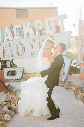 Neon Boneyard The Newlyweds, Photography - Las Vegas Wedding In October in Las Vegas, NV, USA