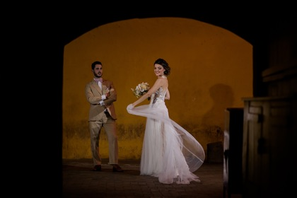 The Newlyweds - Lina and Ignasi's Wedding in Cartagena, Bolivar, Colombia
