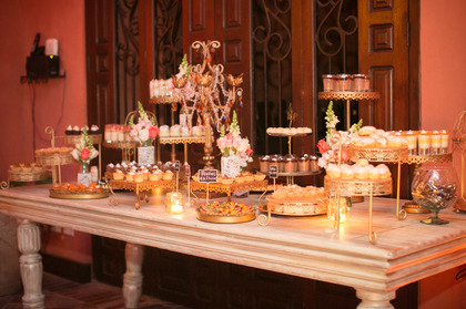 Pastry Table Cakes and Desserts - Sonji  and Kenny 's Wedding in Cartagena, Bolivar, Colombia