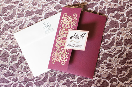 Handmade by my mom The Invitations - Jen and Adam's Wedding in Gaylord, MI, USA